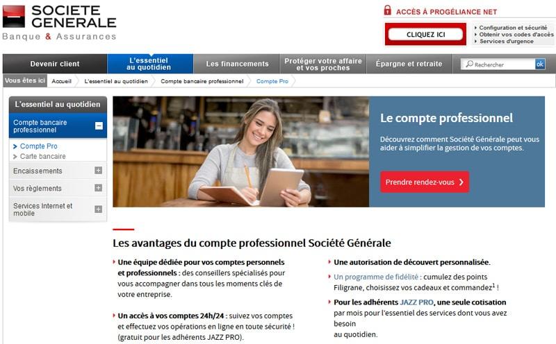Compte Professionnel Société Générale