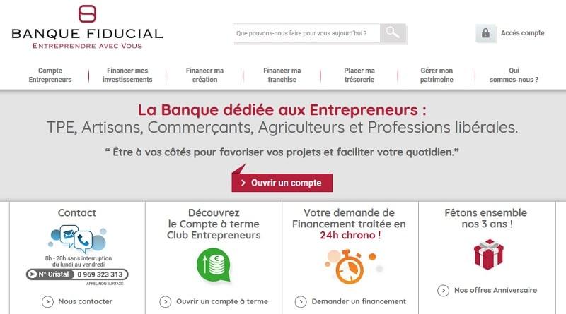 Banque Fiducial Compte Enterpreneur