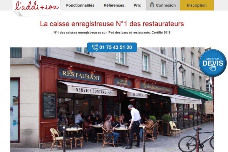 L'addition Caisse enregistreuse sur iPad pour restaurant et hôtel