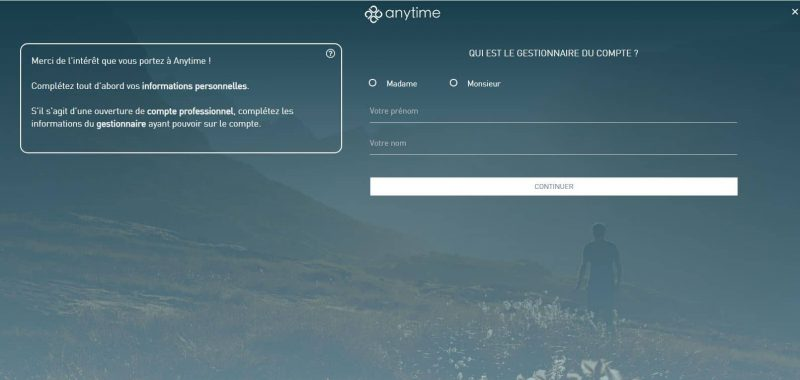 Anytime : Comment ouvrir un compte ?