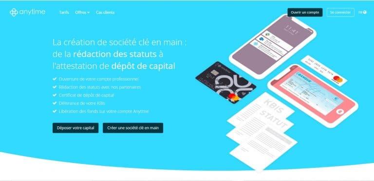 Anytime : Le dépôt de capital social
