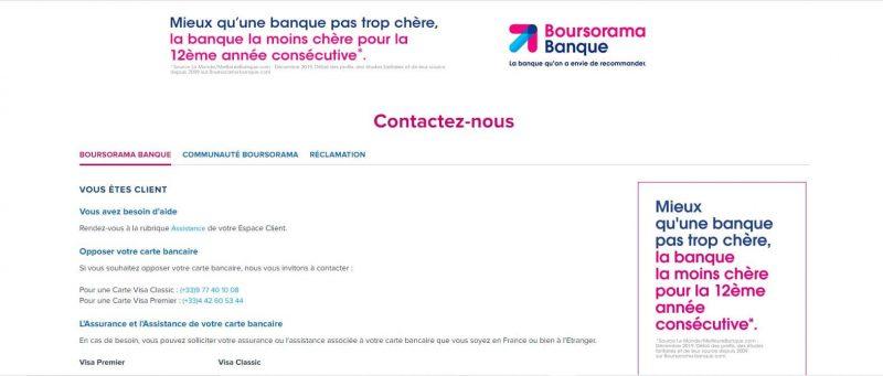 Boursorama : Contacter le service client