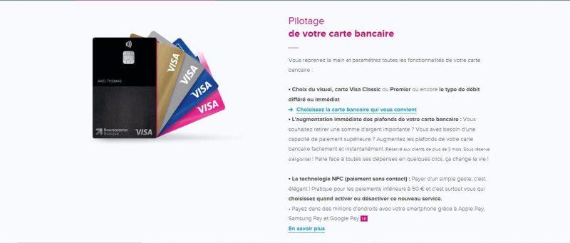 Boursorama : Les cartes bancaires proposées