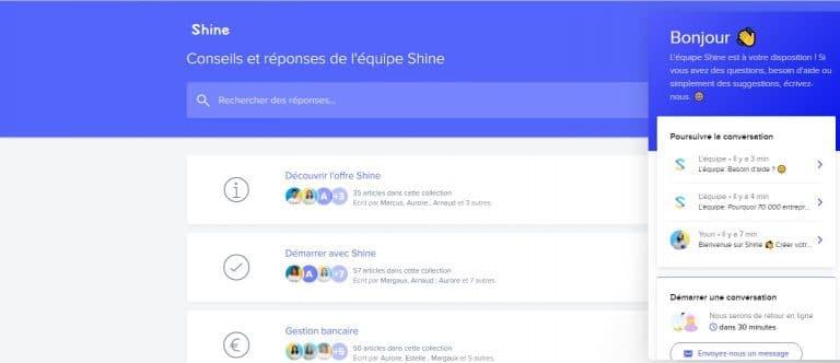 Shine : Contacter le service client