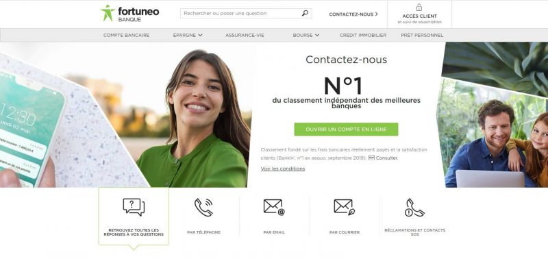 Fortuneo : Contacter le service client