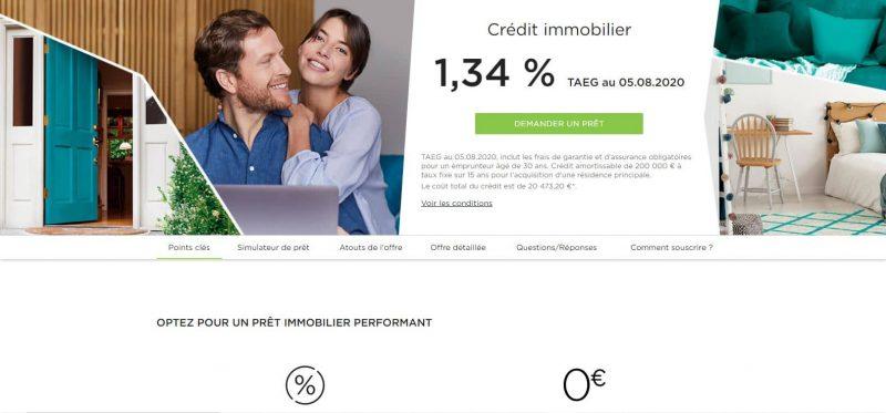 Fortuneo : Le crédit immobilier