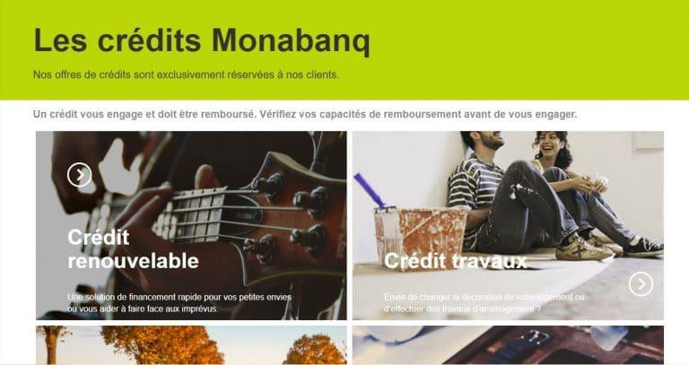 Monabanq : Le crédit immobilier