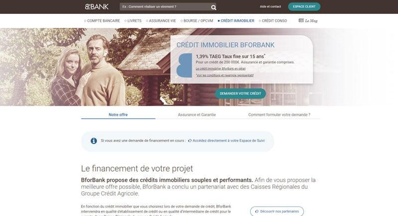 BforBank : Le crédit immobilier