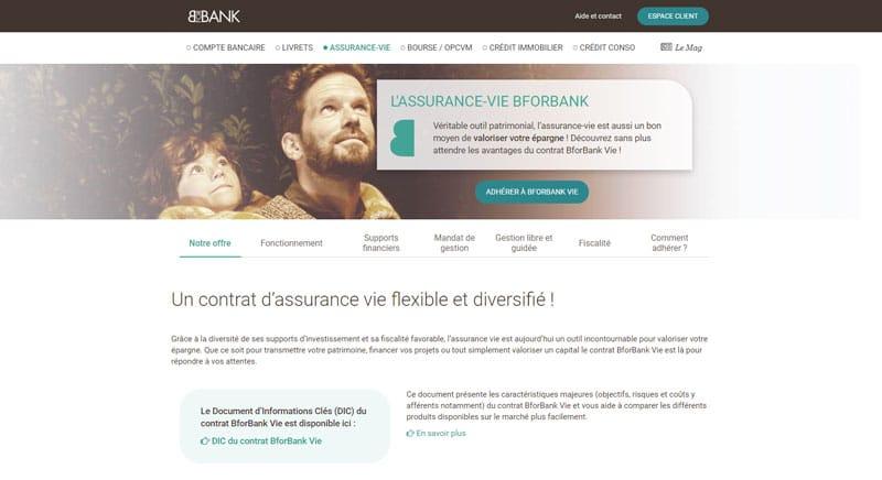 BforBank : Les assurances vie