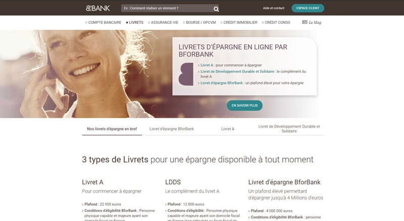 BforBank : Les livrets