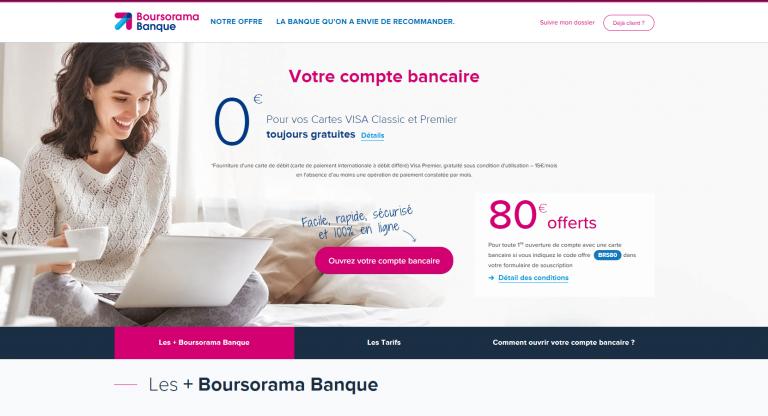 Les offres Boursorama