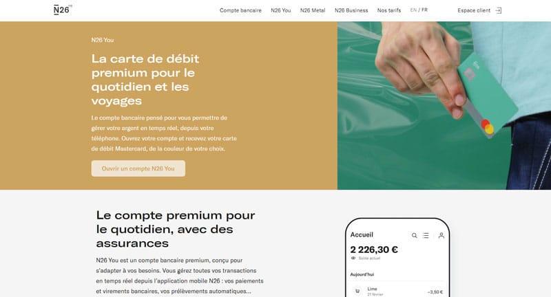 N26 : Les cartes bancaires proposées